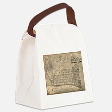 Vintage Map of Savannah Georgia ( Canvas Lunch Bag