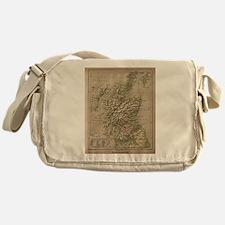 Vintage Physical Map of Scotland (18 Messenger Bag