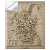 Map of scotland Wall Decals