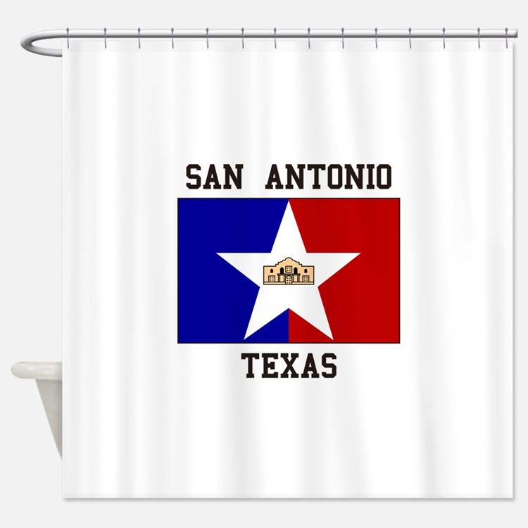 San Antonio Texas Shower Curtain