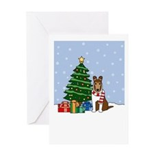 Smooth Collie Howling Holiday Greeting Card