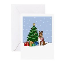 Collie Season's Best Greeting Cards (Pk of 10)