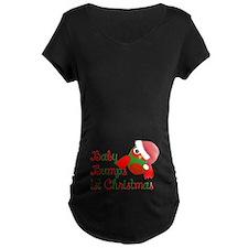Baby bumps 1st Christmas Maternity T-Shirt