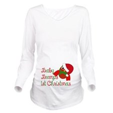 Baby bumps 1st Christmas Long Sleeve Maternity T-S
