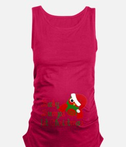 Baby bumps 1st Christmas Maternity Tank Top