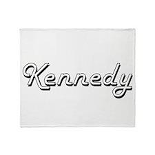 Kennedy surname classic design Throw Blanket