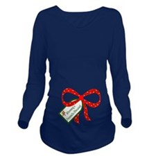 Mommys Favorite Present Long Sleeve Maternity T-Sh