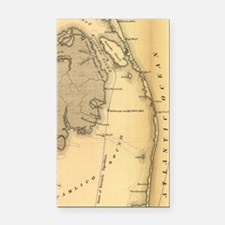 Vintage Map of The Outer Bank Rectangle Car Magnet