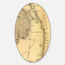 Vintage Map of The Outer Banks (186 Decal