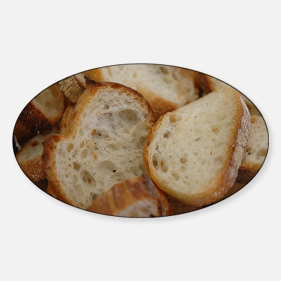 Artisan Bread Slices Sticker (Oval)