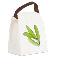 Snow Peas Canvas Lunch Bag