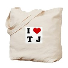 I Love T  J Tote Bag