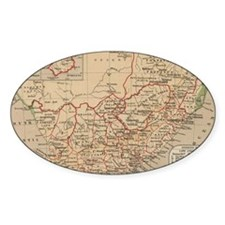 Vintage Map of South Africa (1880) Decal