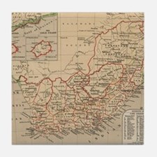 Vintage Map of South Africa (1880) Tile Coaster