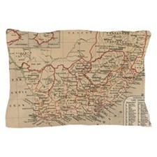 Vintage Map of South Africa (1880) Pillow Case