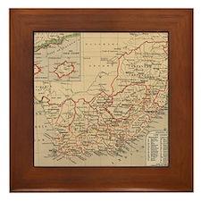 Vintage Map of South Africa (1880) Framed Tile