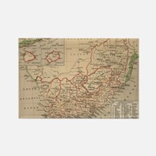 Vintage Map of South Africa (1880 Rectangle Magnet