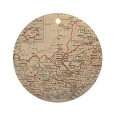 Vintage Map of South Africa (1880) Round Ornament