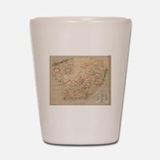 Vintage Map of South Africa (1880) Shot Glass