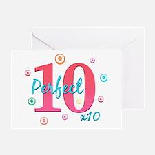 Perfect 10 x10 Greeting Card