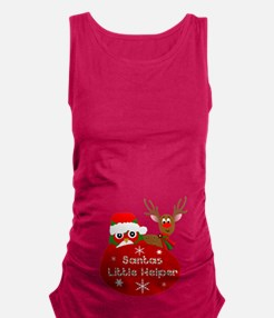 Santas Little Helper Maternity Tank Top