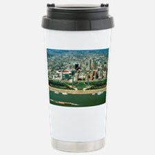 St. Louis Arch and Skyl Stainless Steel Travel Mug