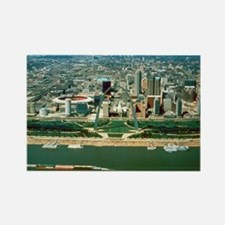 St. Louis Arch and Skyline Rectangle Magnet