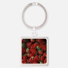 Bushel of Strawberries  Square Keychain