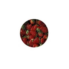 Bushel of Strawberries  Mini Button
