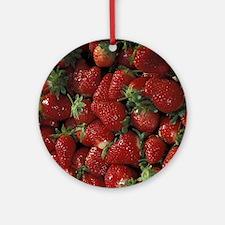 Bushel of Strawberries  Round Ornament