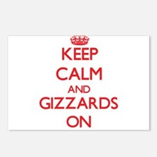 Keep Calm and Gizzards ON Postcards (Package of 8)