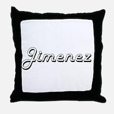 Jimenez surname classic design Throw Pillow