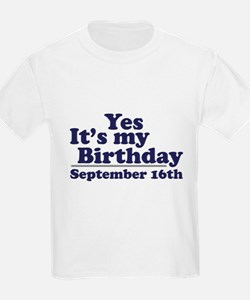 September 16th Birthday T-Shirt