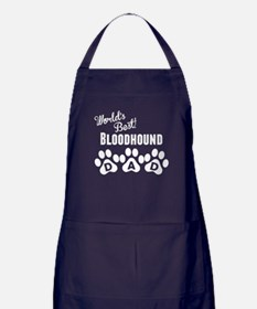 Worlds Best Bloodhound Dad Apron (dark)