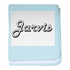 Jarvis surname classic design baby blanket