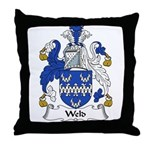 Weld Family Crest Throw Pillow