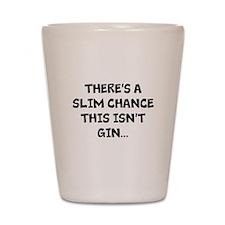 Slim chance this isnt gin... Shot Glass