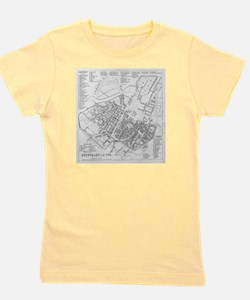 Vintage Map of Stuttgart Germany (1794) Girl's Tee