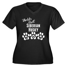 Worlds Best Siberian Husky Mom Plus Size T-Shirt