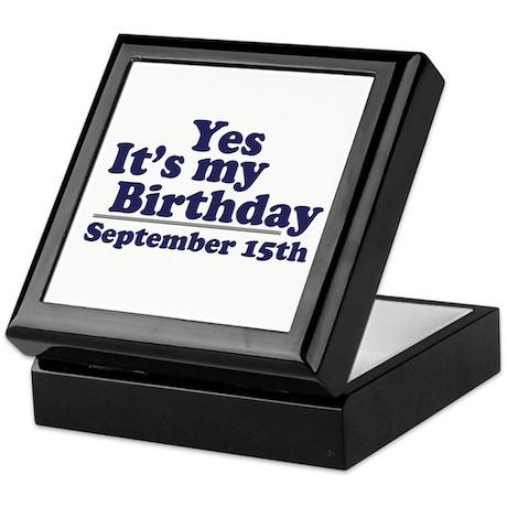 September 15th Birthday Keepsake Box