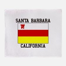 Santa Barbara, California Throw Blanket