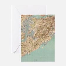 Vintage Map of Staten Island (1891) Greeting Card