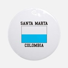 Santa Marta, Colombia Ornament (Round)
