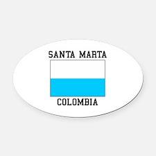 Santa Marta, Colombia Oval Car Magnet