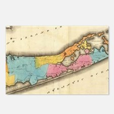 Vintage Map of Suffolk Ne Postcards (Package of 8)