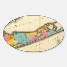 Vintage Map of Suffolk New York (18 Decal