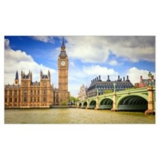 London Bridge And Big Ben Canvas Art