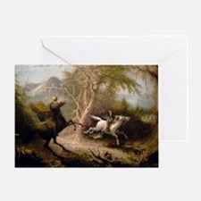 Vintage Art of Sleepy Hollow  Greeting Card
