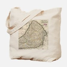 Vintage Map of Barbados (1736) Tote Bag