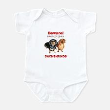 Beware Dachshunds Dogs Infant Bodysuit